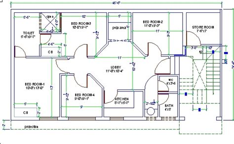 3d House Design Drawing 3 Bedroom 2 Storey Perspective Autocad For Home Design