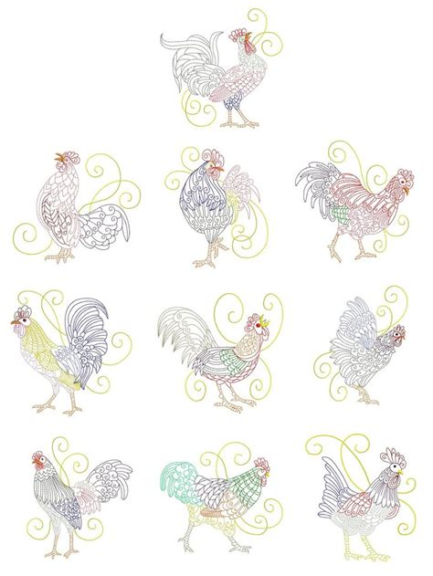 Free Kitchen Embroidery Designs 62 Best Images About Embroidery Chickens On Folk Chicken And Chicken Pattern