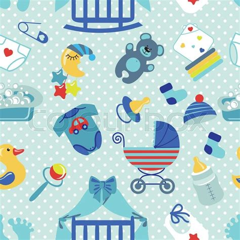 Cle1256 Piyama Baby Motif Boys New Born newborn seamless pattern for baby boy baby shower design elements polka dot for