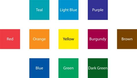 color standards standard colors printingontheinternet