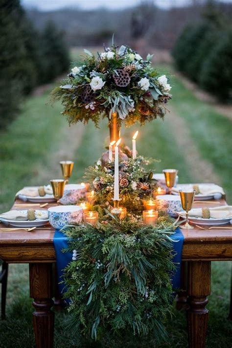 amazing wedding table decoration with flowers and candles weddings - Winter Wedding Table Centerpieces 3