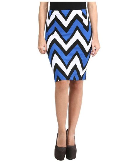 buy mayra multi color viscose pencil skirt at best
