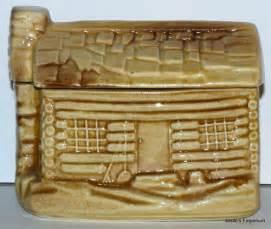vintage mccoy log cabin cookie jar cookie jars