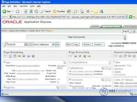 oracle tutorial exles oracle apex tutorial 10 access controls part 2 youtube