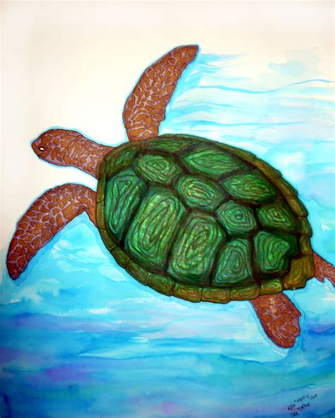 turtle painting his way by foux on deviantart