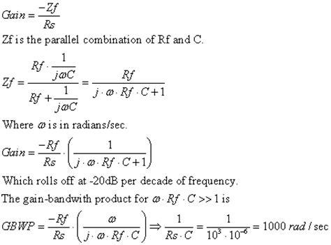 capacitor gain formula capacitance13