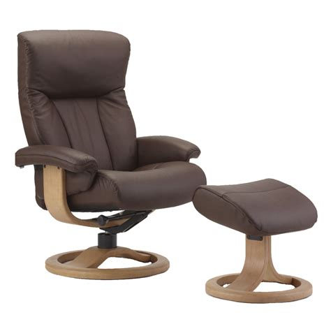Small Recliner Chair by Scandic Small Recliner Ottoman By Fjords 865012 R