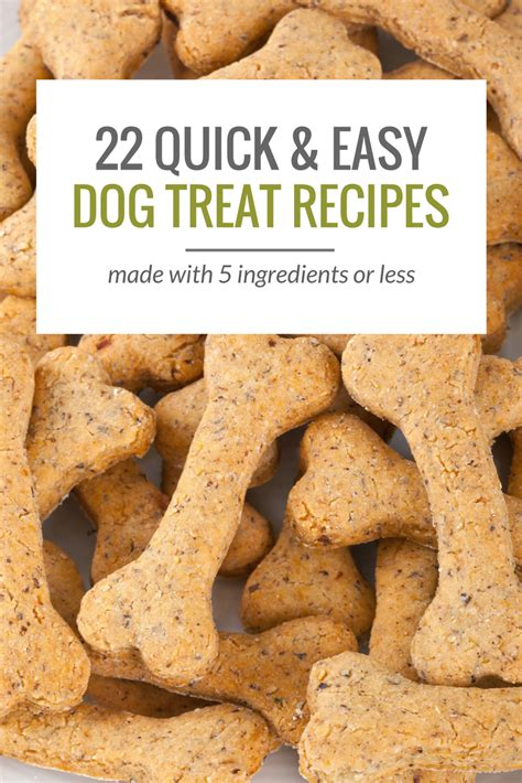 Handmade Treats - 25 simple treat recipes 5 ingredients or less puppy