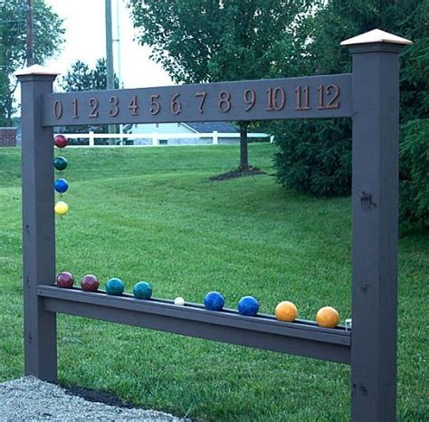 backyard scoreboards bocce ball scoreboard backyards diy and crafts and fence