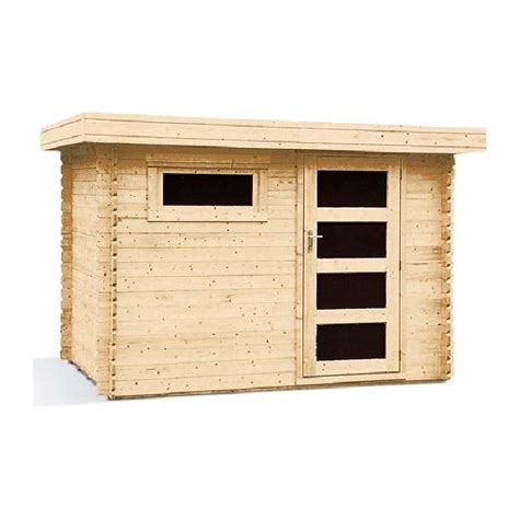 abri de jardin toit plat abri de jardin toit plat bois massif 5 9m 178 28mm achat vente abri jardin chalet abri de