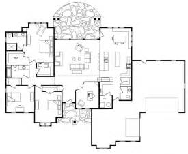 Home Plans With Open Floor Plans single level house plans with open floor plan custom log home