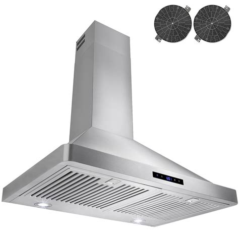 home depot hood fans akdy 30 in convertible kitchen wall mount range hood in