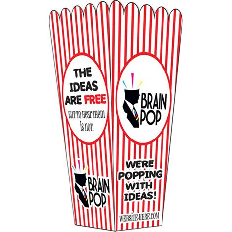 Printed Popcorn Box printed popcorn box uv coated 4x8 folded usimprints