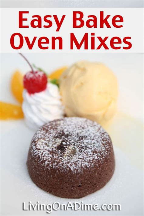easy bake oven cake mix recipe and easy bake frosting ovens cake mixes and recipes for kids