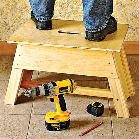 Step Stool Toolbox Combo by Stool Tool Tote Combo Woodworking Plan From Wood Magazine