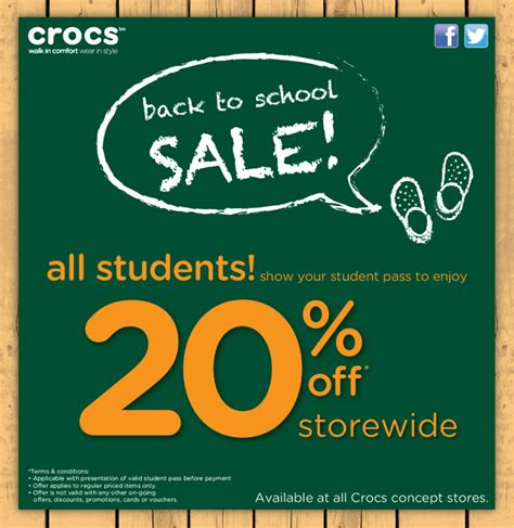 Crocs Gift Card Discount - crocs 20 storewide discount for students great deals singapore