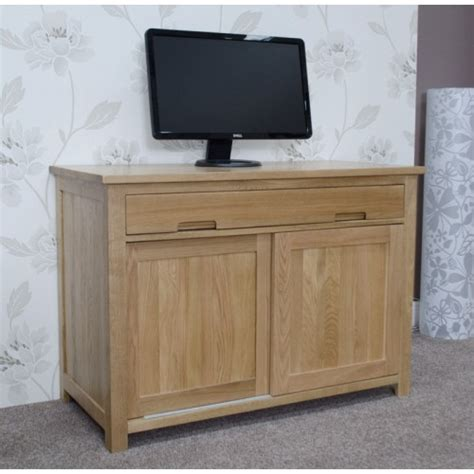 Opus Oak Hideaway Desk Hideaway Laptop Desk
