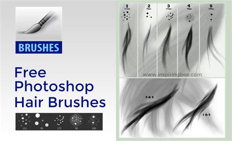download hair brushes for photoshop cs3 free photoshop hair brush set by para vine inspiring bee