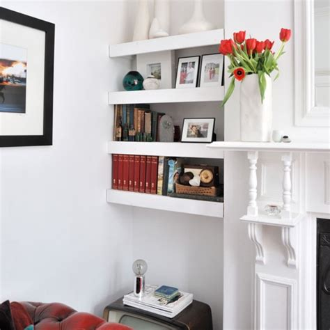 living room shelving ideas alcove floating shelves shelving ideas housetohome co uk