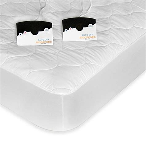 Heated Crib Mattress Pad Buy Biddeford Blankets 174 Quilted Heated Mattress Pad With Digital From Bed Bath Beyond