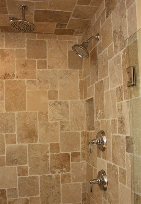 travertine tile bathroom ideas tiled shower pattern home decor design