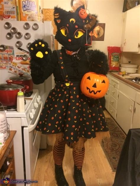 lucy moon  black cat costume
