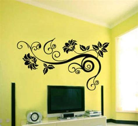 home decor wall art stickers flower ornament wall sticker the interior design