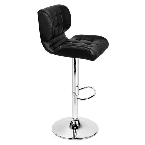 Leather Bar Stools Set Of 2 by Set Of 2 Leather Bar Stools Black