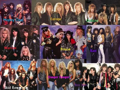 80s Bands by The Decade Of Rock 80 S In