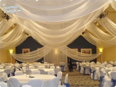 drapings florida ceiling drapings  wedding chiffon