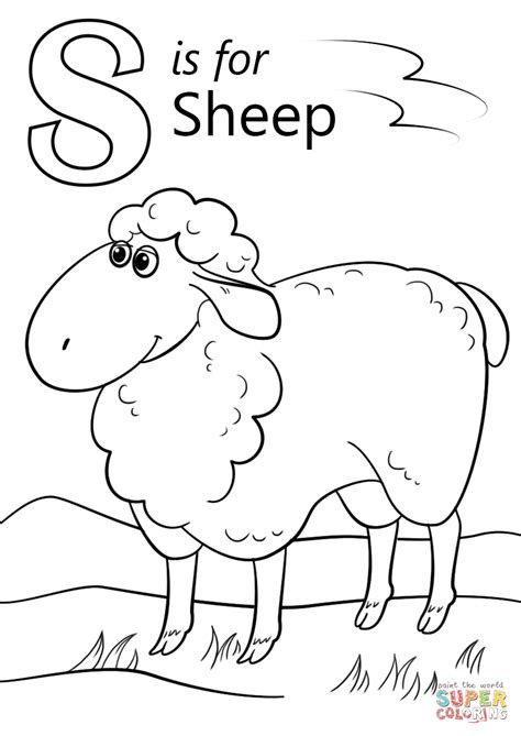 letter s coloring pages letter s is for sheep coloring page free printable