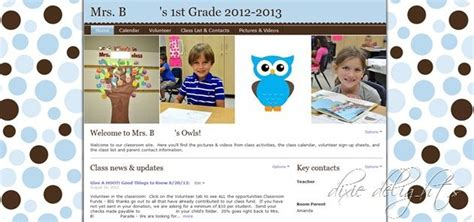 website templates for virtual classroom shutterfly classroom website template so cool all