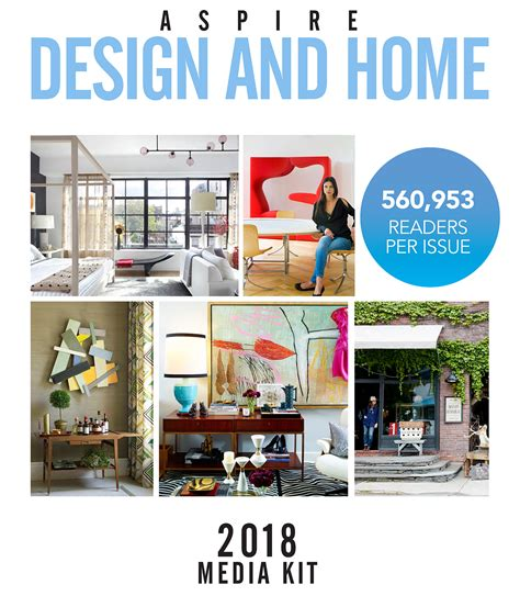 home design media kit advertising online print with aspire design and home magazine