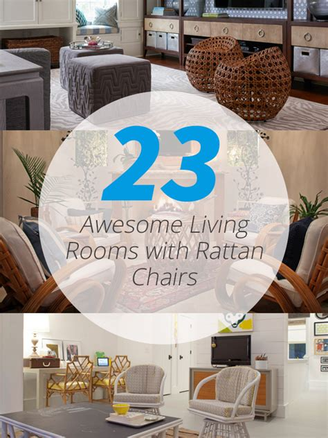 rattan living room chair 23 awesome living rooms with rattan chairs home design lover