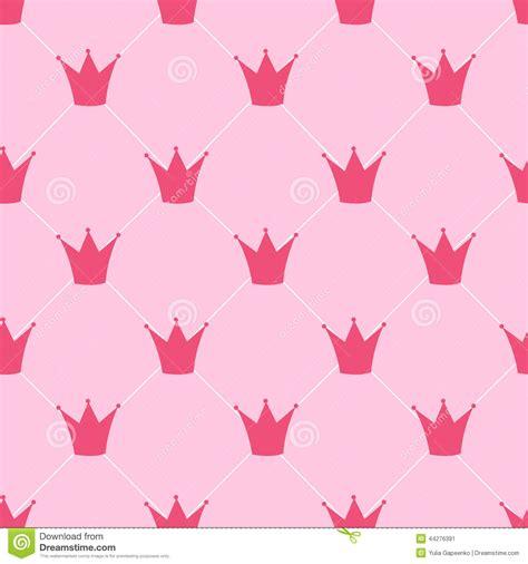 pattern princess vector princess crown seamless pattern background vector stock