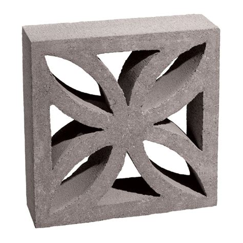 decorative bricks home depot 12 in x 12 in x 4 in gray concrete block 100002873