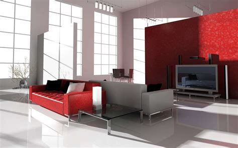 black white wall and white red sofa design in living room small living room accent wall ideas with red and grey