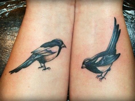 magpie tattoo magpies perching pinterest