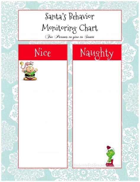 printable christmas elf reward chart naughty or nice