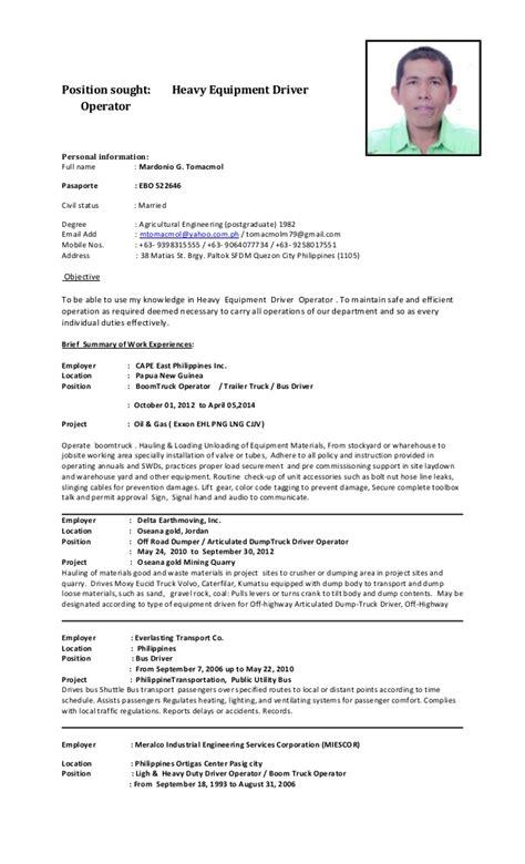 G Driver Resume by Mgt Cv 2015 Heo