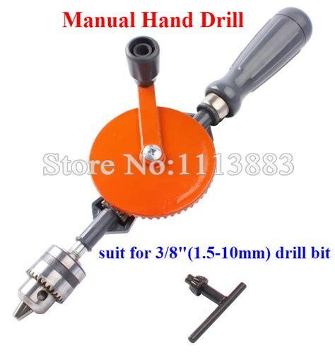 Bor Tangan 3 8 inch 1 5 10mm vintage carpenter s manual drill