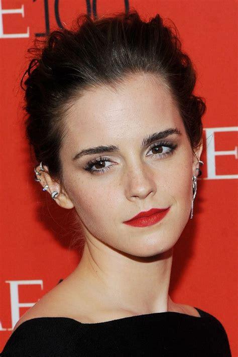 emma watson ear piercing emma watson s hair history