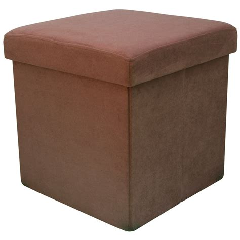 foot storage ottoman 38cm folding storage pouffe cube foot stool seat ottoman