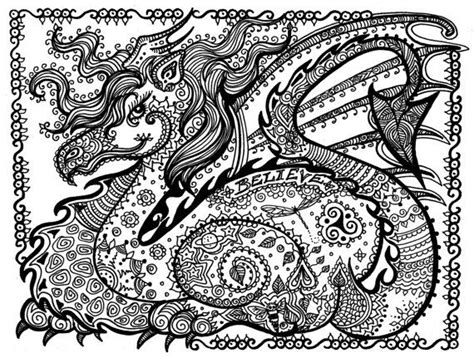 printable zentangle legend printable coloring fantasy pages 5 to color dragon