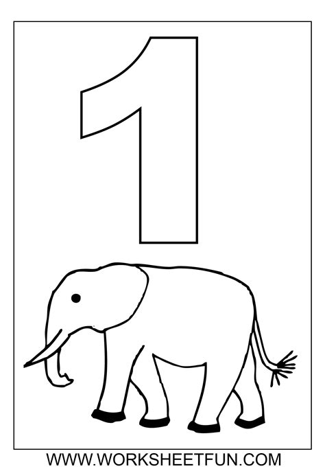Coloring Pages Number 1 free coloring pages of numbers 1 100