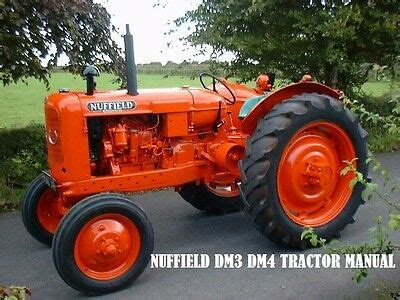 Nuffield Dm3 Dm4 Operation Maintenance Manuals 100pg For
