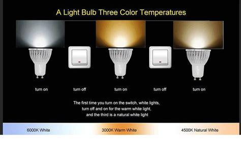 Led Light Bulbs Color Temperature Gu10 Led Bulb Beilai 1 Bulb 3 Color Temperature 3w Cob Led L Bulb Light Led