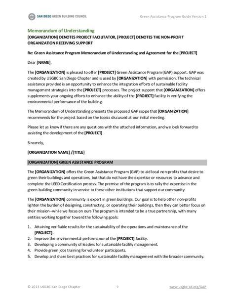 memorandum of understanding templates 30 free sle non