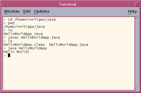 tutorial java cup your first cup of java for unix