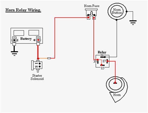 wiring diagram car horn relay wiring diagram with